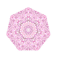 Geometrical floral mosaic ornament heptagon vector