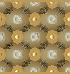 gold geometric greek seamless pattern sunny vector image