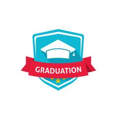 graduation emblem school vector image