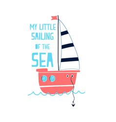 hand drawing sailboat vector image