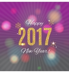 Happy New Year 2017 Gold Glossy Background vector
