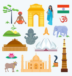 India traditional and famous country religion vector