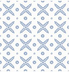 Indigo blue hand drawn seamless pattern vector