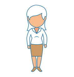 Isolated cute businesswoman standing vector