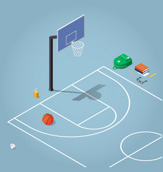Isometric physical education vector