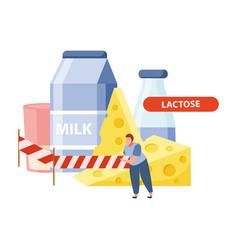 Lactose intolerance concept vector