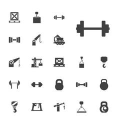 Lifting icons vector