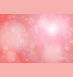 light pink old rose bokeh abstract background vector image