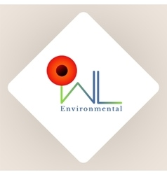 Logo environmental vector