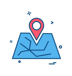 map navigation icon design vector image