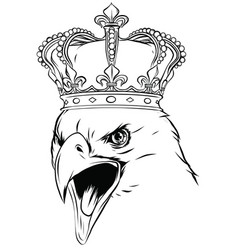 mascot with crowned american eagle vector image