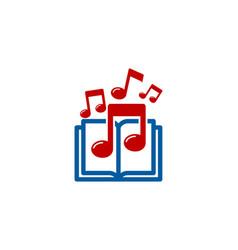 Melody book logo icon design vector