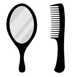 Mirror and comb vector image