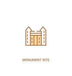 Monument site concept 2 colored icon simple line vector