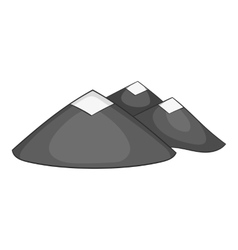 Mountains icon gray monochrome style vector image