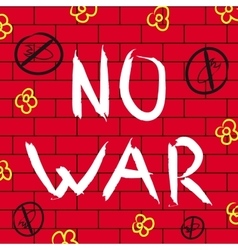 No war background vector image