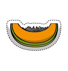 Papaya fresh fruit drawing icon vector