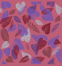 pink nature pattern vector image