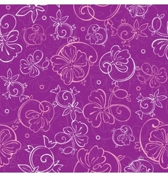 Purple Nature Swirls Seamless Pattern vector