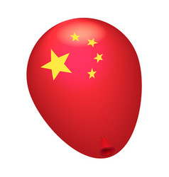 red china balloon icon isometric style vector image