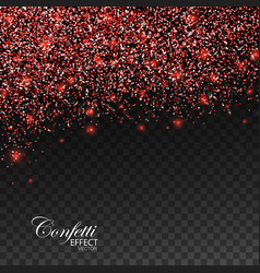 Red glittering star dust vector
