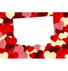 Red Heart Shape Background vector image