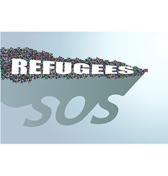 Refugees need help vector