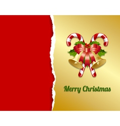Ripped Christmas card vector