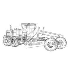 road grader vector image