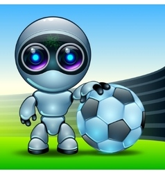 robot football vector image