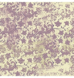 Seamless floral grunge background vector image