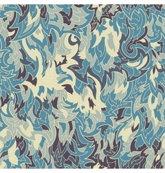 Seamless fur or flame pattern background vector image
