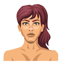 sexy brunette on white background vector image