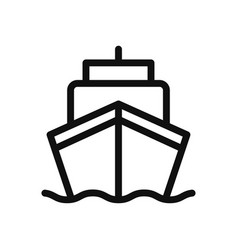 ship icon in modern design style for web site and vector image
