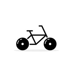 simple black bicycle icon vector image