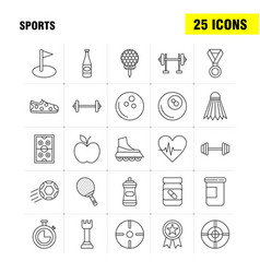Sports line icon for web print and mobile uxui vector