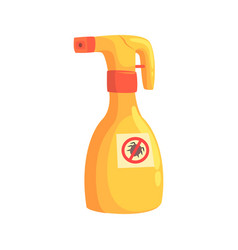 sprayer bottle of mite or tick insecticide cartoon vector image