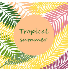 summer time hand drawn tropic background vector image