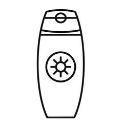 Sunscreen bottle cream icon outline style vector