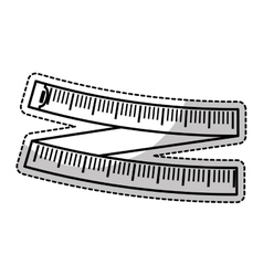 Tape measure icon vector