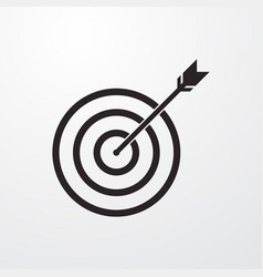 Target sign icon vector