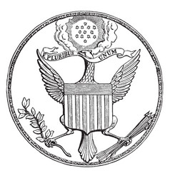 The great seal of the united states vintage vector