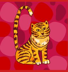 tiger hand drawn beautiful vector image