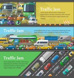 Traffic road jam transportation problems vector