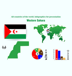 Western sahara all countries of the world vector