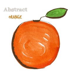 Abstract orange in mixed style with sketch and vector image vector image