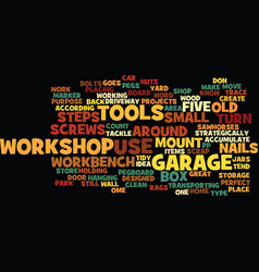 five steps to a clean garage workshop text vector image vector image