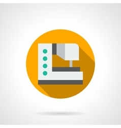 Modern sewing machine round flat icon vector image vector image