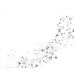 Molecule on the white background vector image