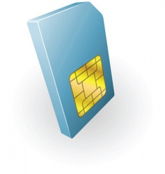 sim card illustration vector image vector image